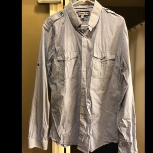Express Extra Slim Casual Button Down